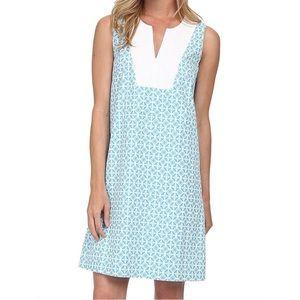 Pendleton Vista Turquoise & White Sleeveless Dress